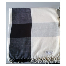 Cream & Black Throw